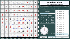 ScreenShot Image : The Number Place - A sudoku-style puzzle game for Silverlight®
